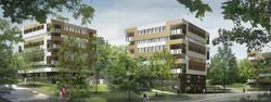 INTERSENS - BEGUIN & MACCHINI Architectes - Logement - FONTENAY SOUS BOIS - Image d'Architecture 3D