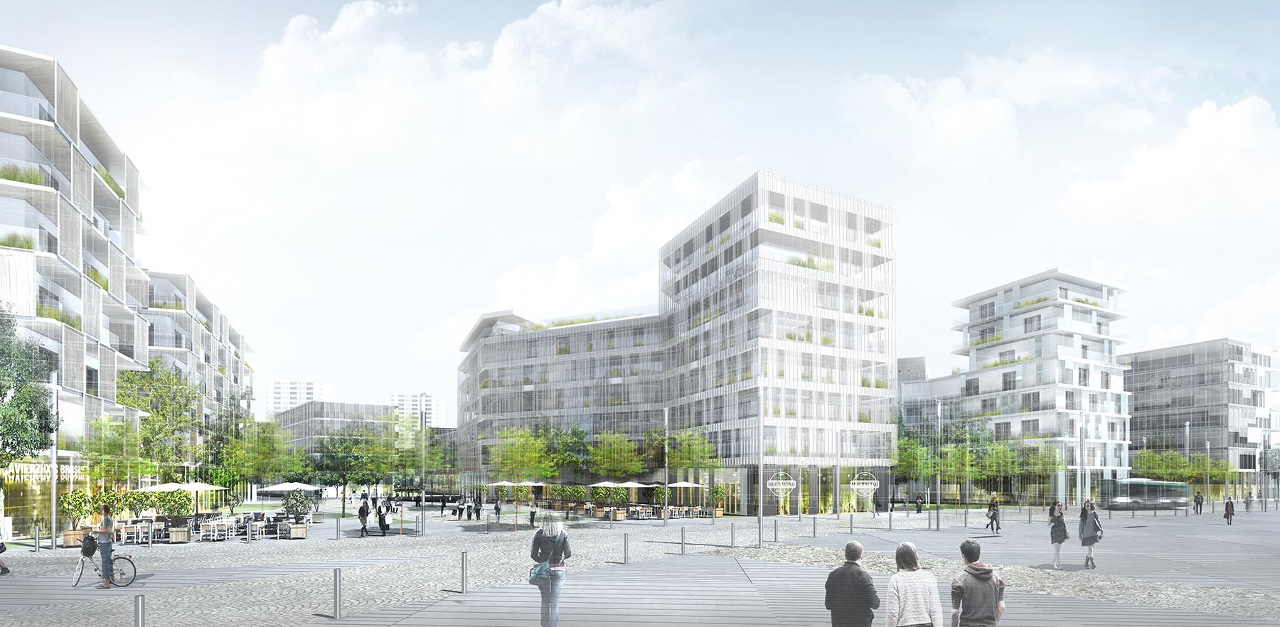 INTERSENS - ARC.AME - Etude urbaine - La Haye Les Roses - Image d'Architecture 3D