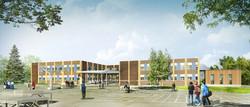 INTERSENS - Atelier Architecture Axelle GUILLEMOT - Lycee - Riantec - Image d'Architecture 3D
