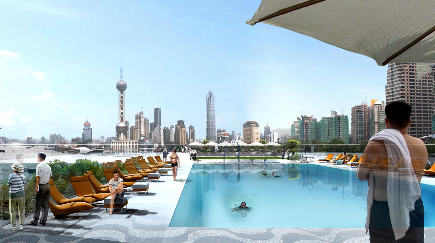 INTERSENS - JEAN-PAUL VIGUIER ARCHITECTE - Concours piscine - Shangai