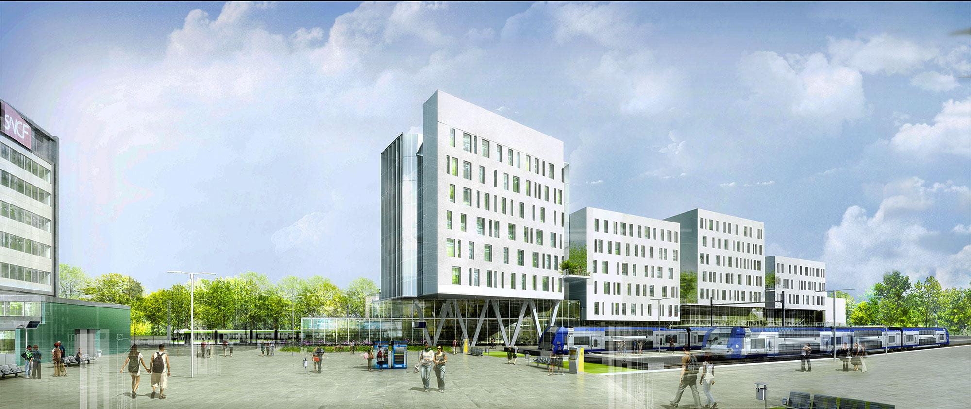 INTERSENS - BEGUIN & MACCHINI Achitectes - Logements - Gare de Nantes