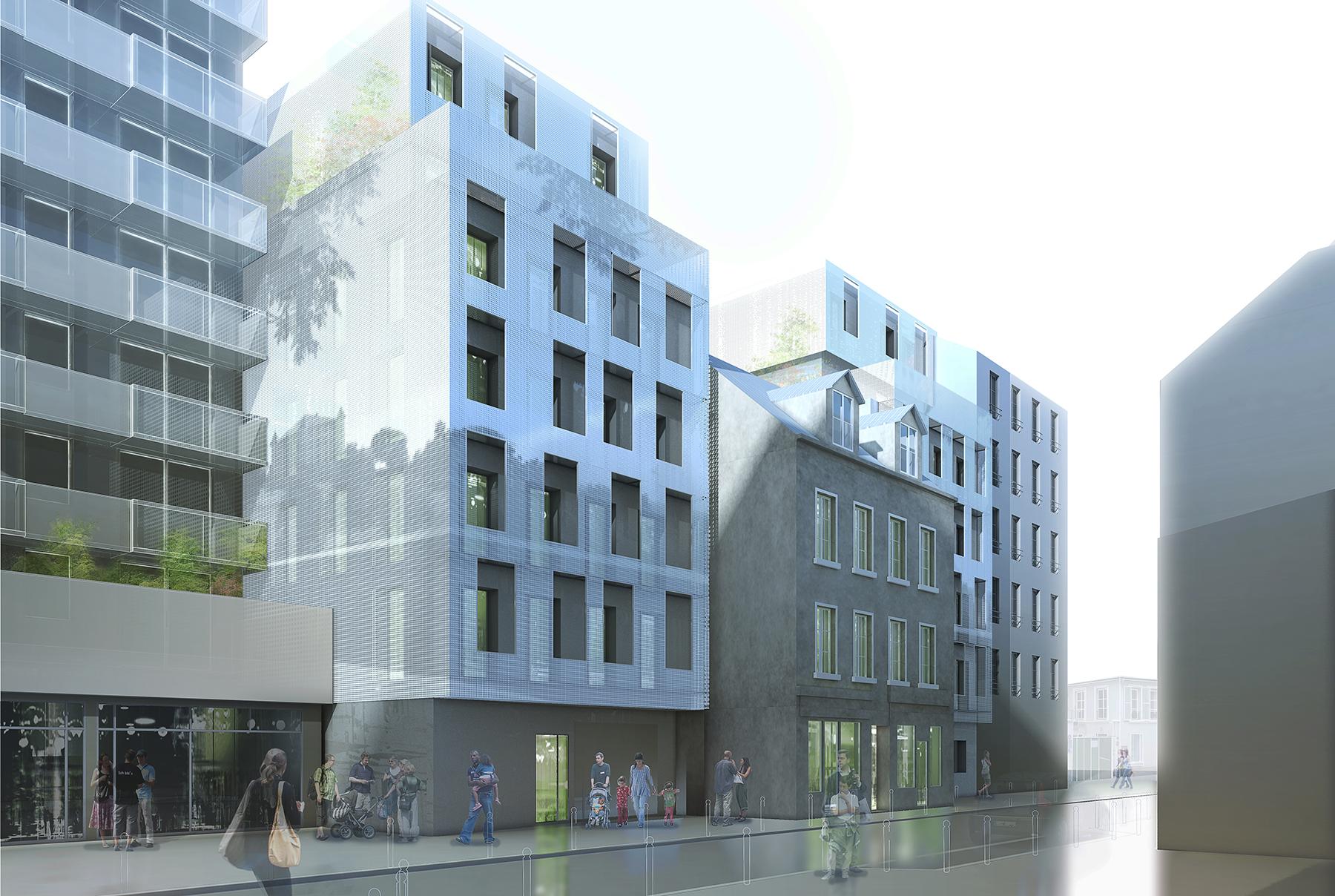 INTERSENS - Naud & Poux - Logements - Rue Basfroi