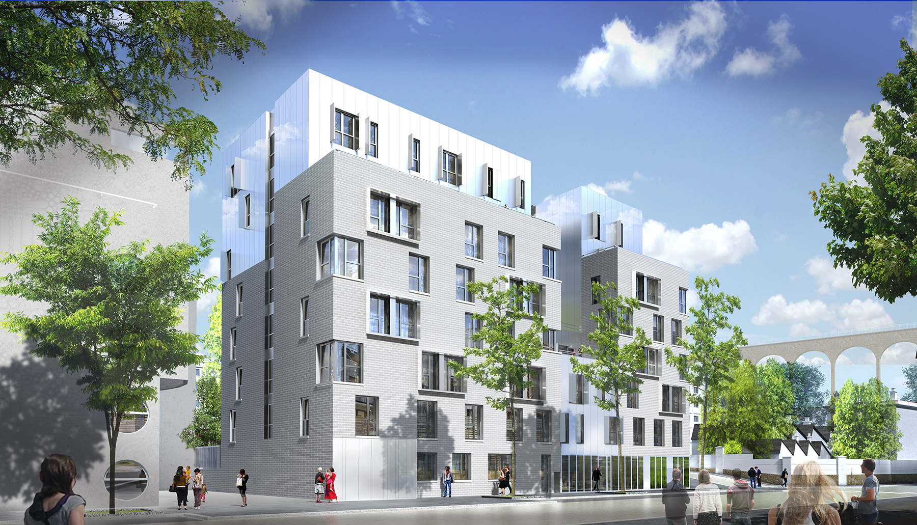 INTERSENS - BEGUIN & MACCHINI Architectes - Logement - Nexity - Image d'Architecture 3D
