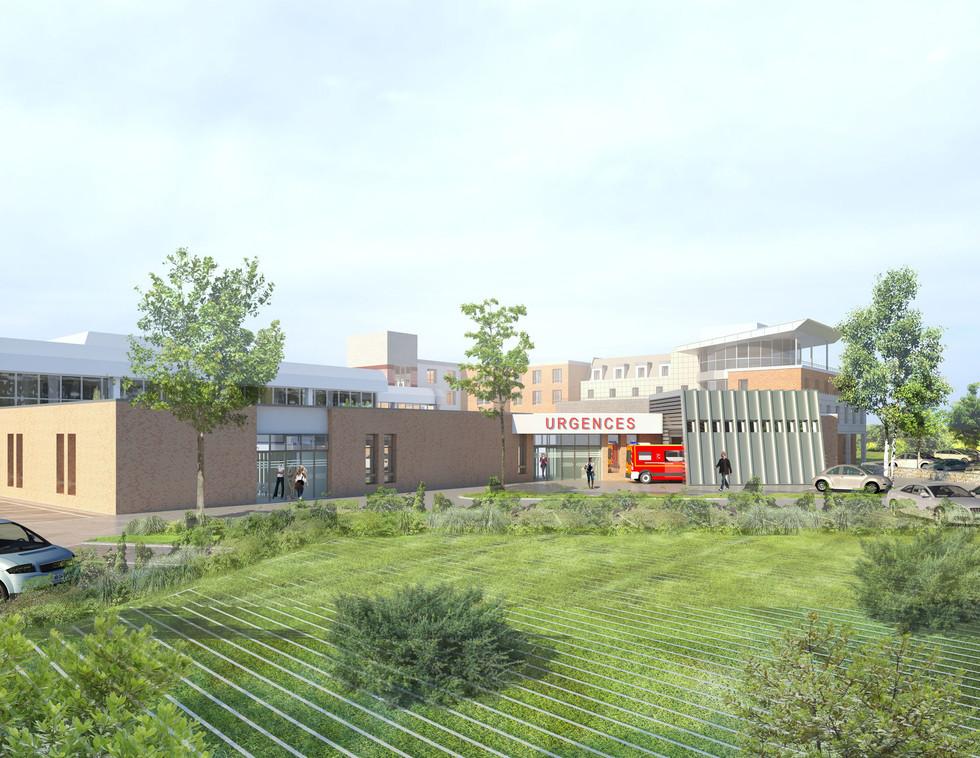 3SD Architectes - Extension urgences - CHU LILLE