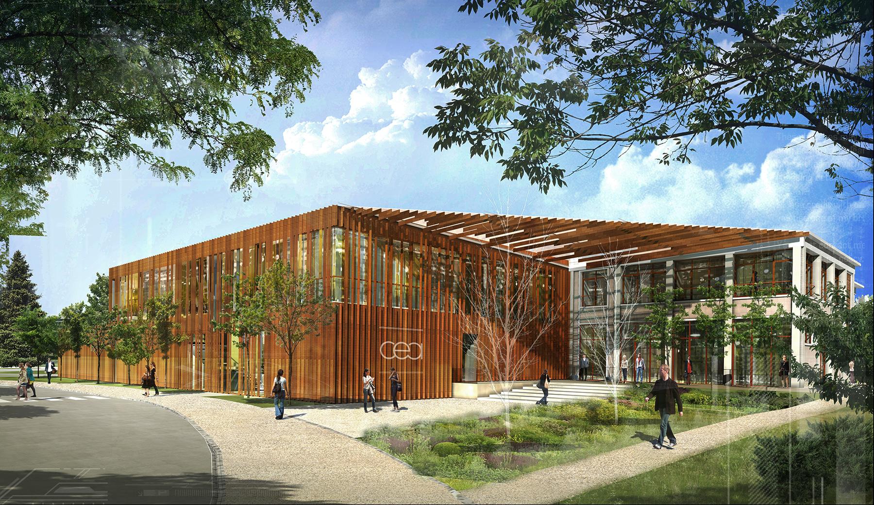 INTERSENS - BEGUIN & MACCHINI Architectes - CEA - Saclay - Image d'Architecture 3D