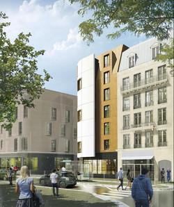 INTERSENS - BEAUDOUIN & BERGERON Architectes - Logements - St aubervillier - Image d'Architecture 3D