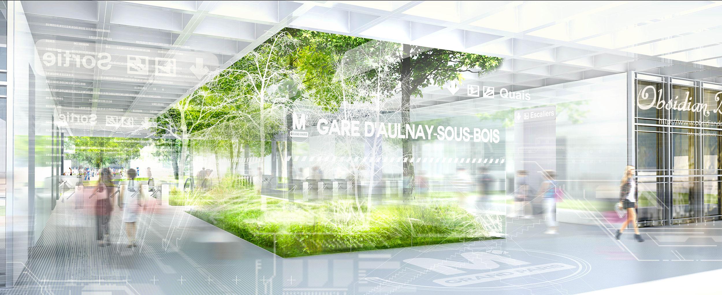 INTERSENS - BECKMANN & NTHEPEE et EGIS-RAIL - Concours du Grand-Paris - Gare-d'Aulnay