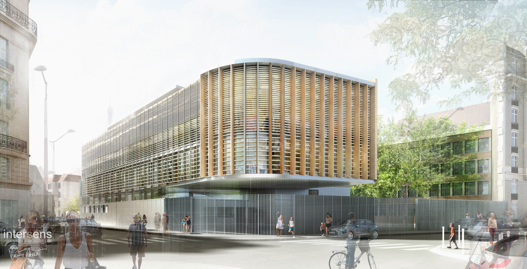 INTERSENS - Fabienne BULLE Architecte - Extension Groupe scolaire - Paris-15e
