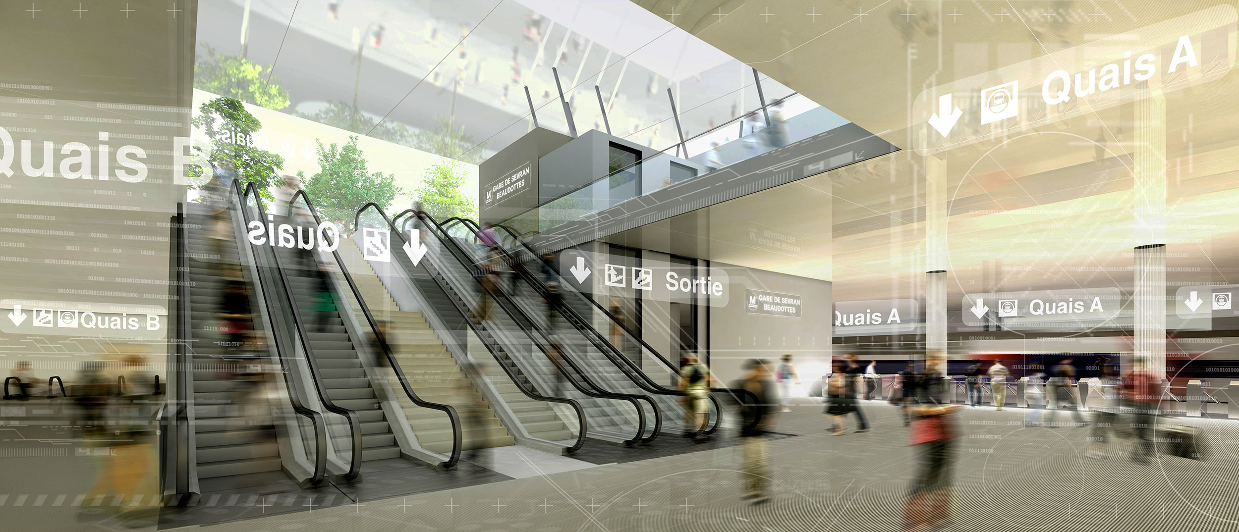 INTERSENS - AREP et EGIS-RAIL - Concours du Grand-Paris - Gare de Sevran-Beaudottes