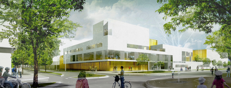 Atelier VM - Lehoux Phily & Samaha - Concours - Centre Culturel et Sportif - Colombes - Image d'Arch