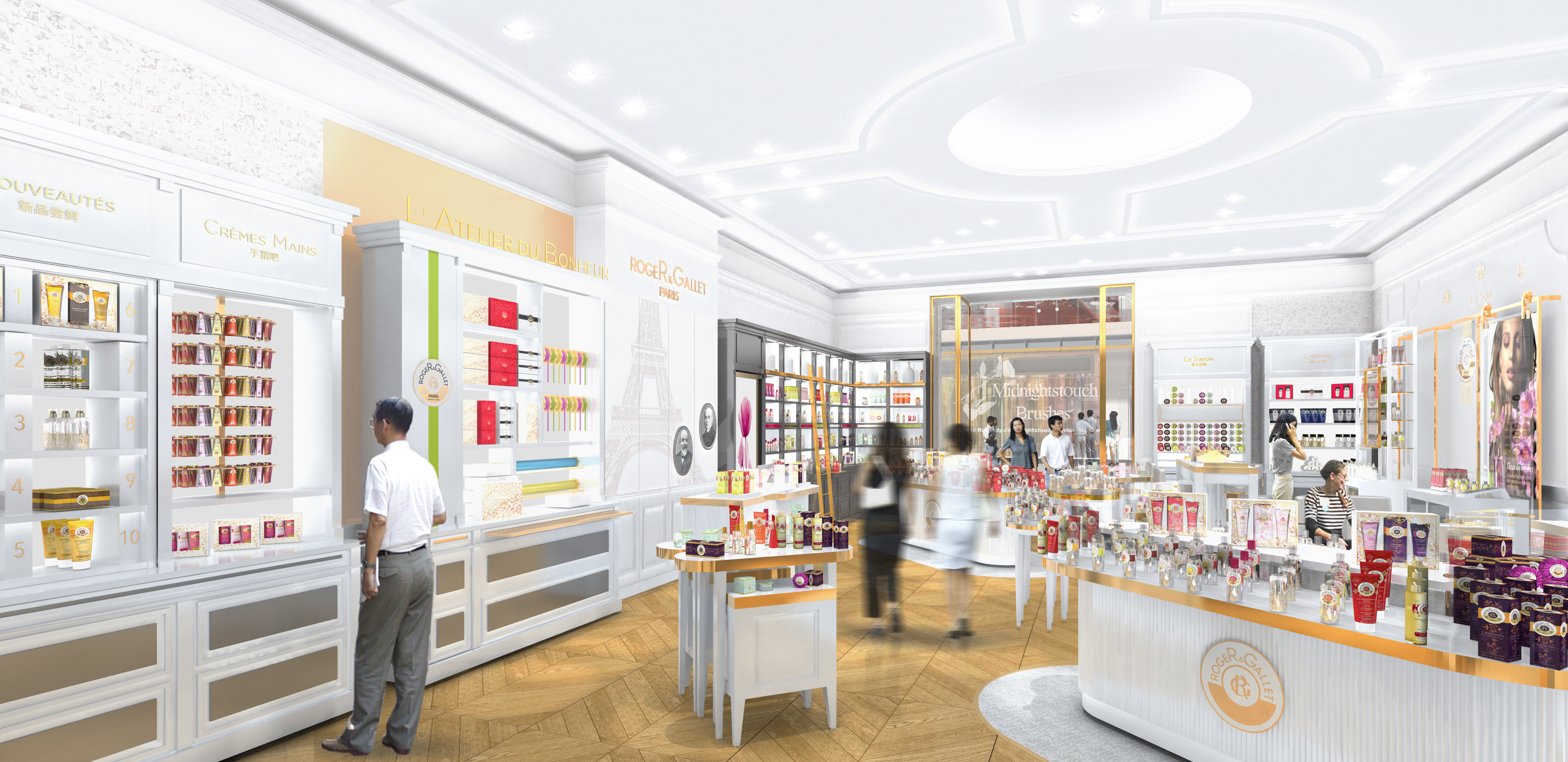 INTERSENS - L'Agence Versions - Boutique Roger & Gallet - Chine - Image d'Architecture 3D (2)