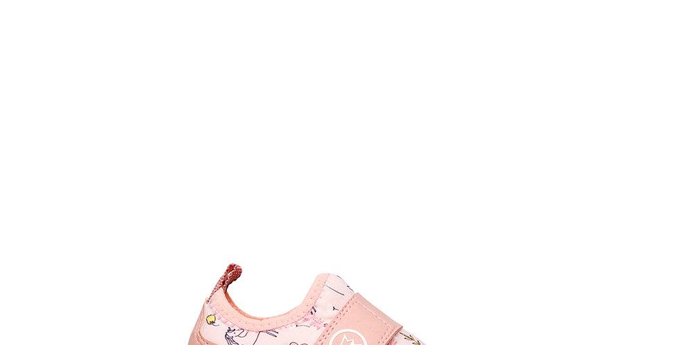 Zapatillas para bebé Prowess 9106 con abrojo color rosa