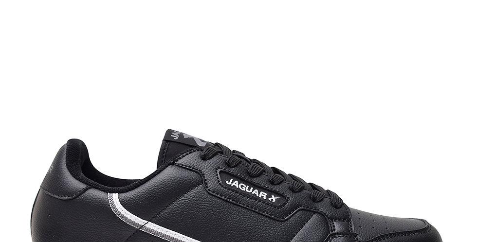 Jaguar 9051 Negras Base Blanca Hombre Colegiales Cuerina