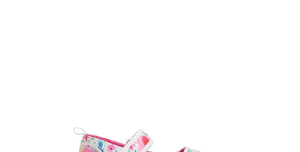 Guillerminas para nena Jaguar 905 floreadas color Blanco Rosa