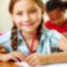 Girl sitting 11+ exam