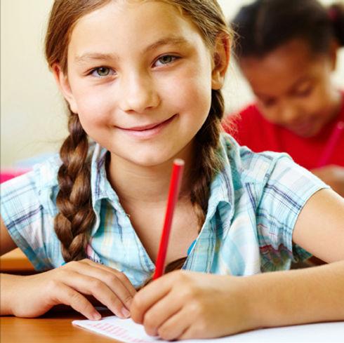 学校での少女