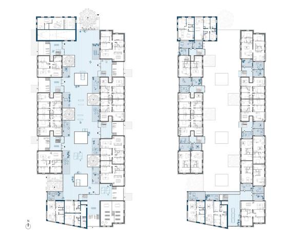 Plan seuil & Plan étage courant