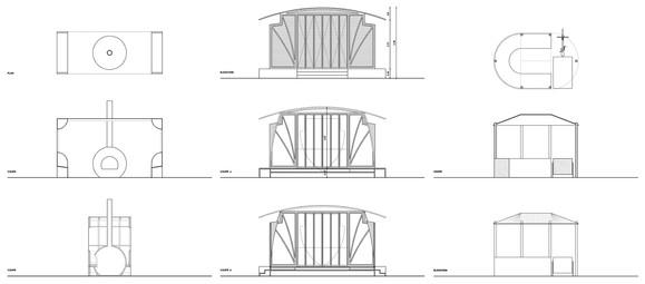 plans & coupes | pavillons