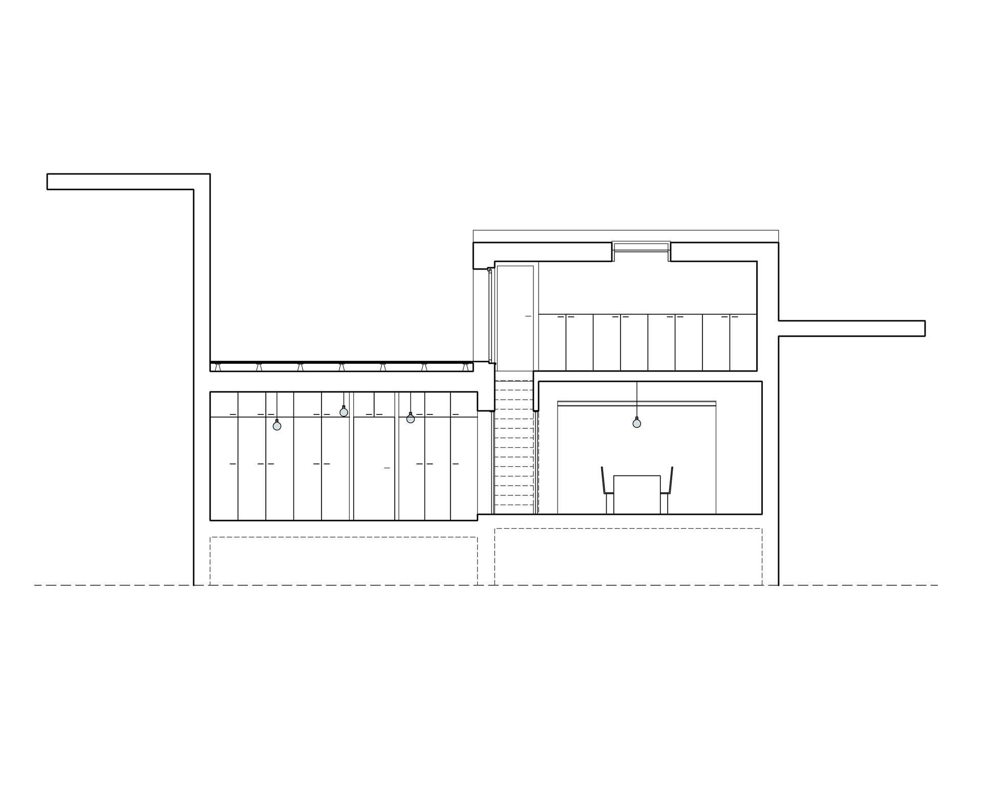 coupe | terrasse, bureau, dressing, séjour