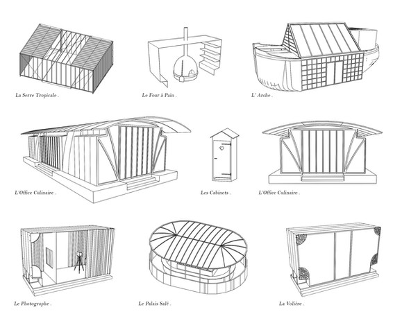 3d | pavillons