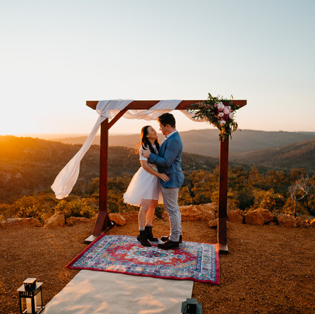 A Perth Hills Sunset Elopement