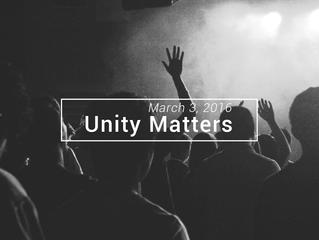Unity Matters Part 1