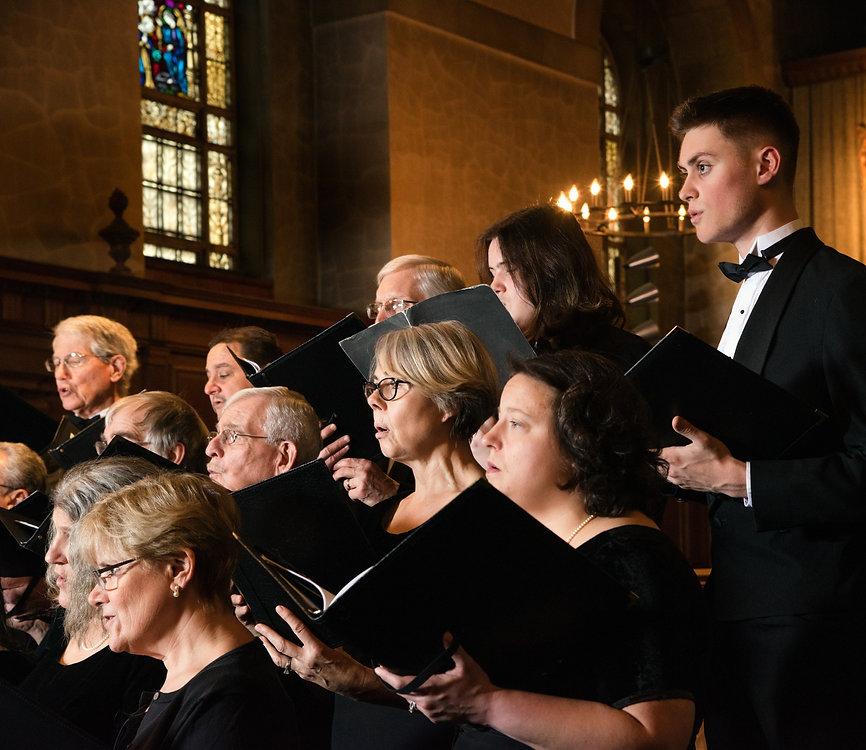 Mystic River Chorale Members singing