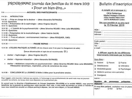 """Journée des Familles - """"Pour un bien-être"""" 16/03/19"""