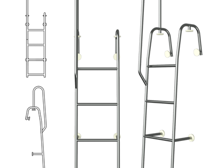 SS Diving Ladders (Removable) for Speedboats Available