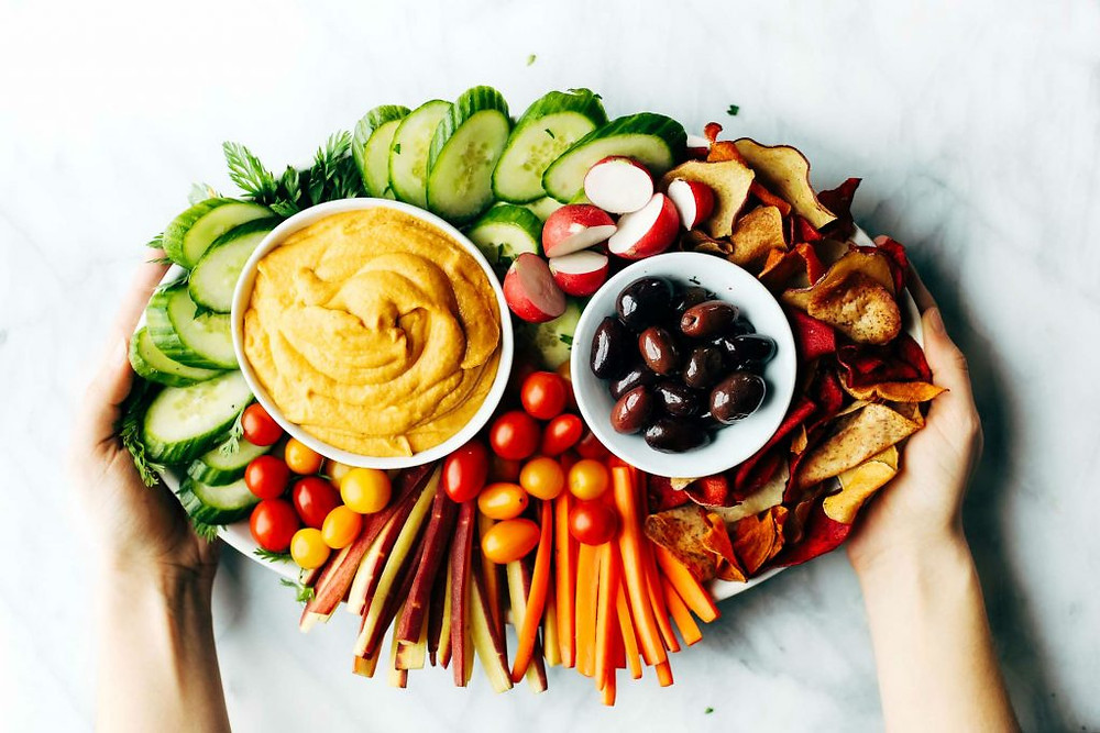 Curried Hummus with Vegetables