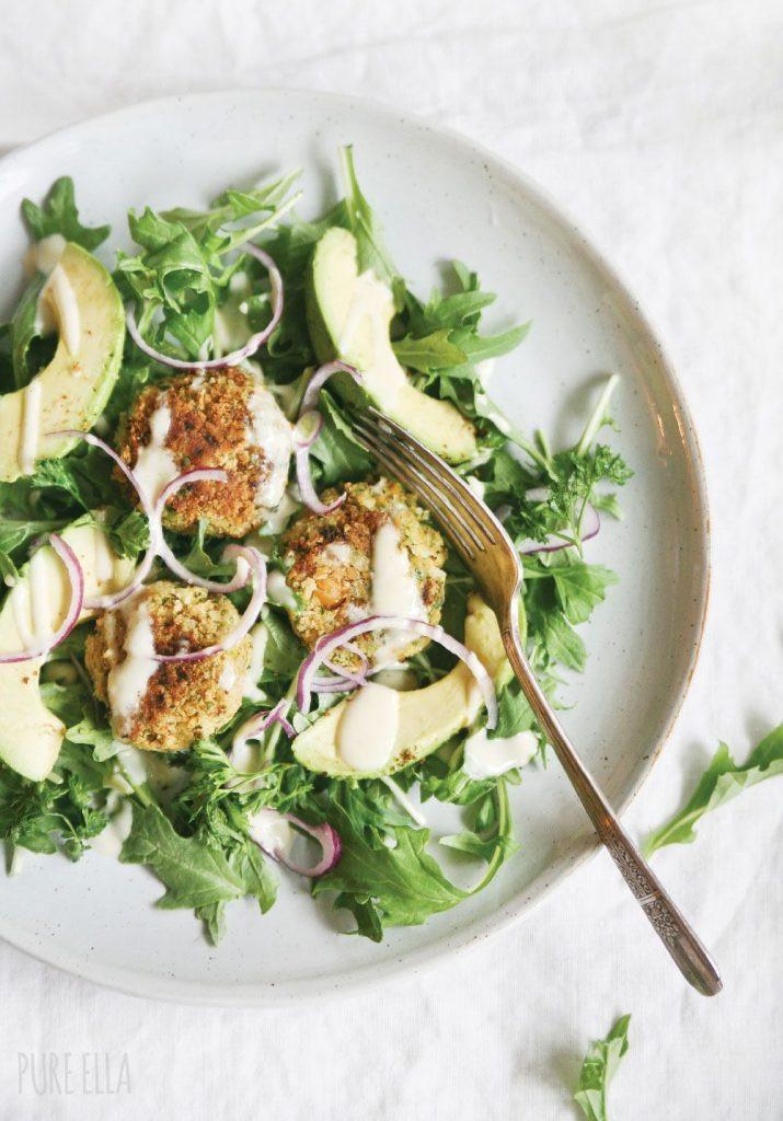 Vegetarian Falafel Summer Salad