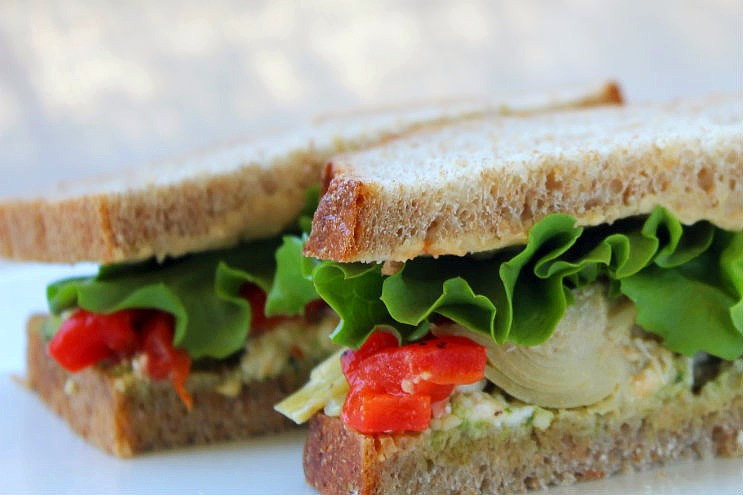 The Mediterranean Vegetarian Sandwich