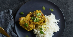 Simple Curried Chicken Thighs