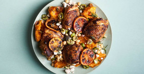 Charred Chicken with Sweet Potatoes & Oranges