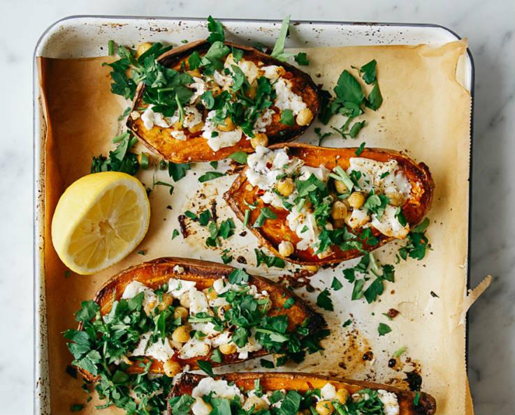Stuffed sweet potato dinner idea!