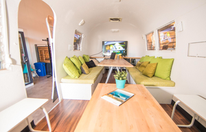 Airstream Meeting Room in the Center of Sandbox