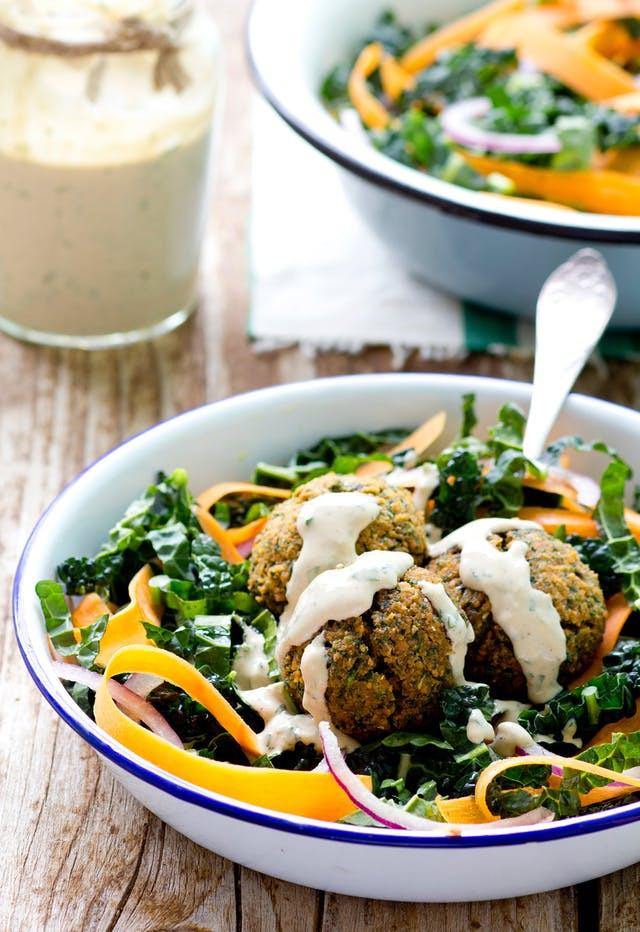 The Kitchn's Red Lentil Falafel Salad