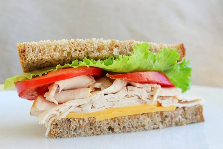 Simple Turkey Sandwich With Romas & Tillamook Cheddar