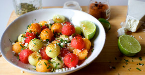 Chilled Melon, Lime, Mint & Chile Salad