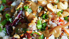 Thai Coconut Rice Salad - Delish!