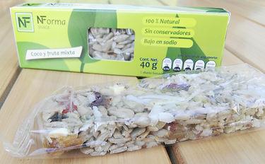 Barras saludables con coco y grasas saludables