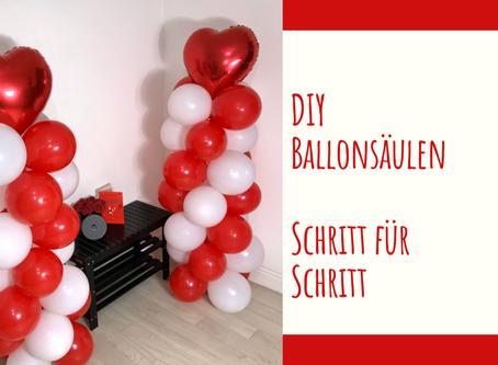 DIY Anleitung:Ballonsäulen ohne Ballonständer basteln