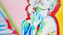 "Nouvelle création en cours: Huile 60x60, ""Charlize by Dior"""