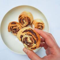 Chocolate Hazelnut Scrolls