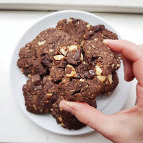 Double Choc Peanut Butter Cookies