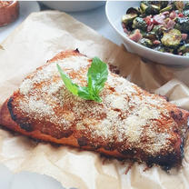 Red Pesto Crusted Salmon