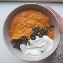 Roasted Pumpkin & Sweet Potato Soup