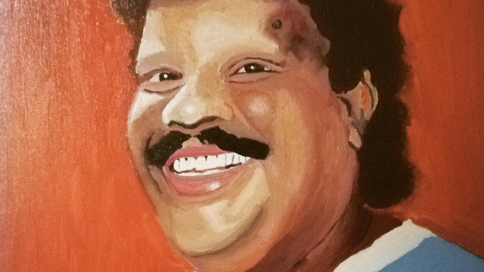 Tim Maia, óleo sobre tela, 50x50 cm