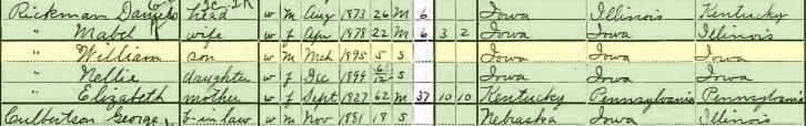 1900 census rickmans