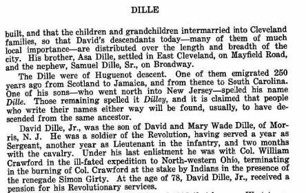 Dille family history